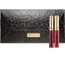Napoleon Perdis Luxurious 2 Lip Glosses & Black Envelope Clutch $75 Value