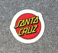 Santa Cruz Classic Dot Skateboard Sticker Red/Yellow small 1in si