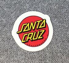 Santa Cruz Classic Dot Skateboard Sticker Red/Yellow small 1in si