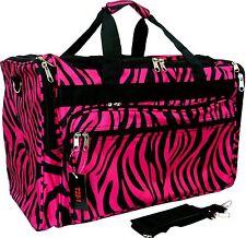 New 16, Women's Animal Zebra Print Gym Dance Cheer Travel Carry On Duffel Bag