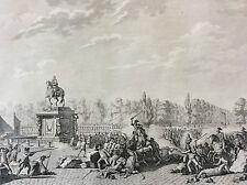 Révolution française Bustes Mrs. D' Orléans et Necker eau-forte 1804 Berthault