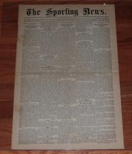 March 17, 1886 First Issue of The Sporting News Newspaper-REPRINT