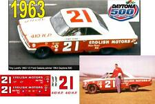 CD_DC-1963 #21 Tiny Lund  1963 Ford NASCAR  1:64 Scale Decals  ~SALE~