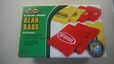 Go! Gater All weather Bean Bags, 8-Bean Bags Red/Yellow & Carry Bag, NEW!