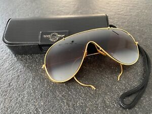 Rarität: Bausch & Lomb B&L Wings gold - Ray Ban Vintage Sonnenbrille made in USA