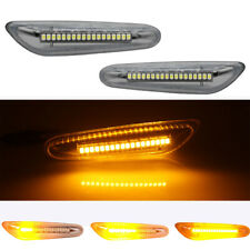 1 Pair Dynamic LED Side Marker Turn Signal Light For BMW 1 3 5 Series