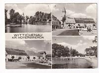 uralte AK Wittichenau Kreis Hoyerswerda Stadtteich Marktplatz Waldbad 1975 //09