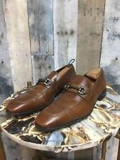 💭 Salvatore Ferragamo Brown Leather Bit Loafer Size: 9 D 💭 (12)