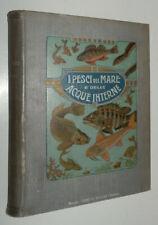 I PESCI DEL MARE E DELLE ACQUE INTERNE Hoepli 1908 prima edizione