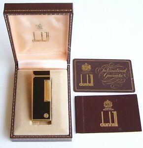 VINTAGE DUNHILL BPOE ELKS LODGE LACQUER ROLLAGAS CIGARETTE LIGHTER w BOX + CARD