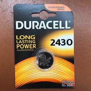 Duracell CR2430 3V Lithium Coin Cell Battery DL2430 K2430L 2430 LONGEST EXPIRY