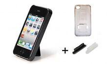 Cover per iPHONE 4 e 4S TRASPARENTE con STAND a scoparsa