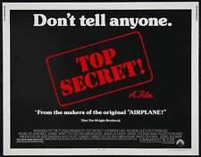 TOP SECRET Movie POSTER 22x28 Half Sheet Val Kilmer Lucy Gutteridge Christopher