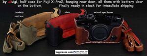 LUIGI CASE+DELUXE STRAP FOR FUJI FINEPIX X-PRO2,GRIP+BATTERY DOOR,UPS,BARGAIN !