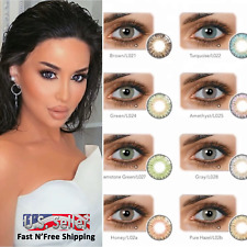 Color Contacts Lenses NEW!  Yearly For Dark eyes case Lens