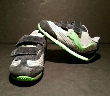 Puma Speeder Illuminescent Light Up Shoes Size 6 Blue Gray Green