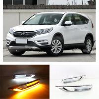 car LED Daytime Running Light Turn Singal DRL Lamp For Honda CR-V CRV 2015~2016