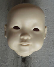 "Vintage Porcelain JDK Kestner 243 K 12 Reproduction Asian  Doll Head 3 1/2"" Tall"