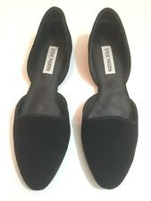 Black Steve Madden Suede D'orsay Pointed Flats (worn once) size 7