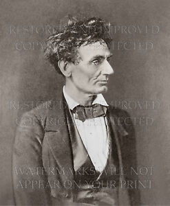 8x10 photo print: Abraham Lincoln age 48 IL, portrait by Alexander Hesler 1857