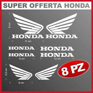 8 adesivi logo honda ali stickers per moto casco vetri carena telaio racing