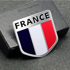 "ALUMINUM France Flag Emblem Sticker 3D Decal For Auto, Car, & Truck 2""x2"""