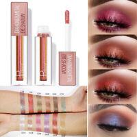 12 Colors Metallic Glitter Liquid Eye Shadow Shimmer Eyeshadow Cosmetics Lasting