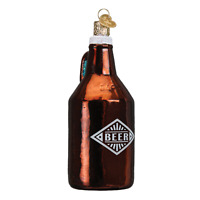 """Beer Growler"" (32275)X Old World Christmas Glass Ornament w/ OWC Box"