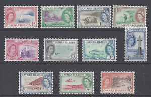 CAYMAN ISLANDS QEII 1953-62  SET  TO 1s. MINT LIGHTLY/NEVER HINGED  SG 148/158
