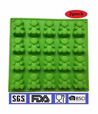 2-20 Cavity (40 Total Bears)JUMBO size Gummy bear Mold  Candy Soap Mol... NO TAX