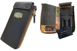 New Exclusive SAMSONITE BLACK LABEL RESORT Leather Executive PEN HOLDER Brown