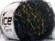 Fireworks - Eyelash Flag Metallic Blend Yarn #52809 Ice Soft Nylon Polyester 50g