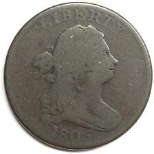 1805 United States Draped Bust Half Cent - Large 5 - G