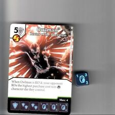 DICE MASTERS DC BATMAN UNCOMMON CARD & DIE #66 OWLMAN BRAINS OF THE OPERATION