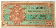 1954+ US MPC Military Payment Certificate 521 25 Cents Currency Note HMP04960204