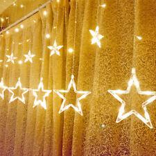 138LED Star Fairy Light Window Curtains String Lamp Home Christmas Party Décor