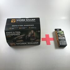 WORK SHARP WSKTS Knife and tool sharpener, WorkSharp Plus 6 Free Asst Belts.