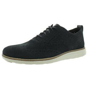 Cole Haan Mens OriginalGrand Black Knit Oxfords Shoes 11 Medium (D) BHFO 7130