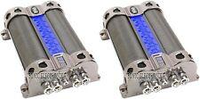 2) Boss Cap18 18 Farad Digital Hybrid Capacitor with Blue Illumination