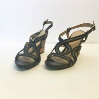 Naturalizer Women's Wedge Sandal Black Smooth N5 Comfort Size 8