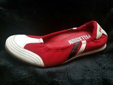 Palladium Red/White Ballet Flats Shoes Slip On Size 9 (1A)