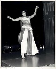 1965 Vintage Photo Barefoot Burlesque Buxom Belly dancer Ford Motor auto show