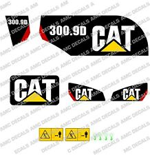CATERPILLAR CAT 300.9D DIGGER EXCAVATOR DECAL STICKER SET