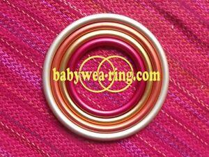 Zertifizierte Aluminium Ring für Baby Tragetuch - Sling 4 Größen - Neu XL!
