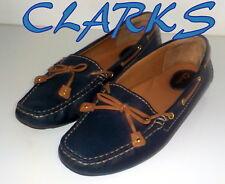 "Amazing ""CLARKS""  Dunbar Racer LEATHER  Pumps  Boat  Shoes UK 5  EU 38  £75"