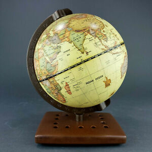 """Table Top World Globe Decorative Antique Style Small 7.5"""" Tall"""