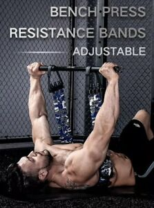 Adjustable Camo Home Gym Resistance Band for Bench Press Push Up Chest Builder