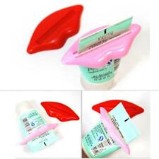 2x Bathroom Lip Kiss Easy Press Tube Dispenser Toothpaste Squeezer Gadget Kit