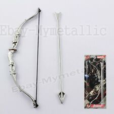 Super Hero Avengers Hawkeye Bow and Arrow Metal Toy Cosplay NIB Silver #03