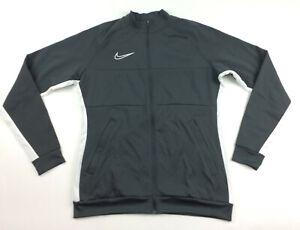 Nike Dry Academy 19 Full Zip Track Jacket Soccer Women's M Gray AO1483